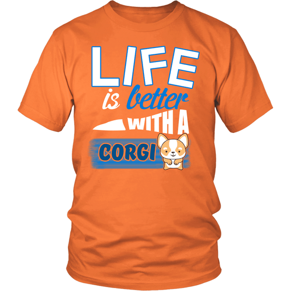 LIFE IS BETTER WITH CORGI UNISEX TEES