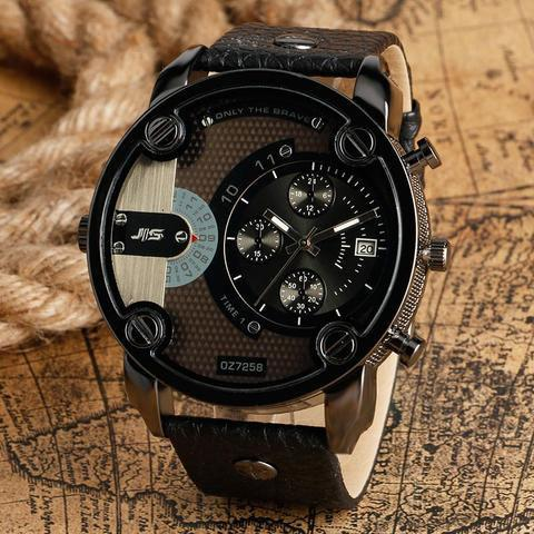 Military Luxury Leather Watch