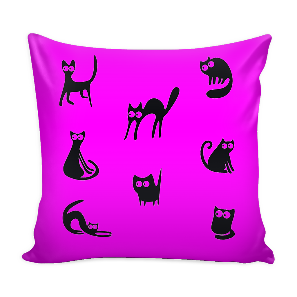 "Naughty Cat Pillow Cover 16"". FREE SHIPPING"