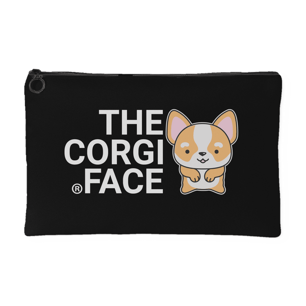 The Corgi Face Pouch (Black)