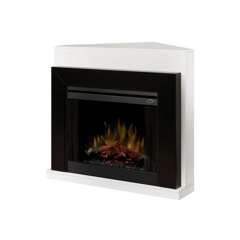 Dimplex Ebony 33-Inch Contemporary Convertible Mantel - White - Realogs - BMSL33BLKW