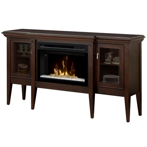 Dimplex Upton Mantel Electric Fireplace Cabinet With Acrylic Ember Bed,  Espresso - GDS25HG-1253E