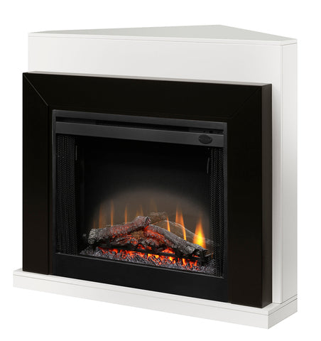 Dimplex Ebony Convertible Corner Electric Fireplace Black/White  - BFSL-BMBLK