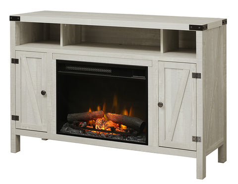 "Dimplex Sadie 23"" Media Console Electric Fireplace - Logs - Silver Elm - C3P23LR-2051SP"