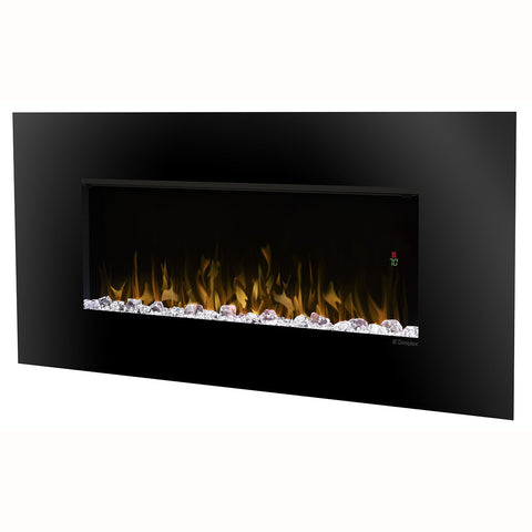 Dimplex Contempra 52-Inch Wall Mount Electric Fireplace -Acrylic Ice Embers - Black - DWF5252B
