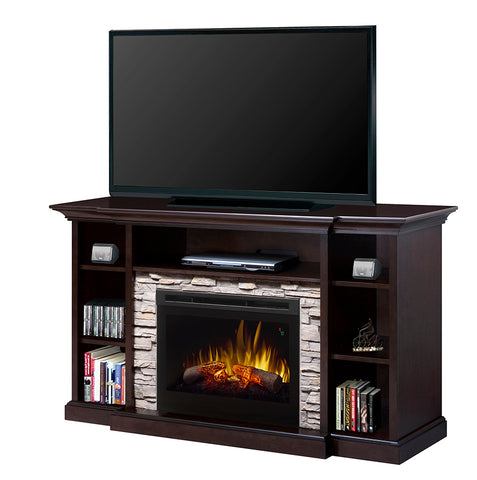 Dimplex Courtyard Media Console Electric Fireplace with Logs - GDS25L5-1252E