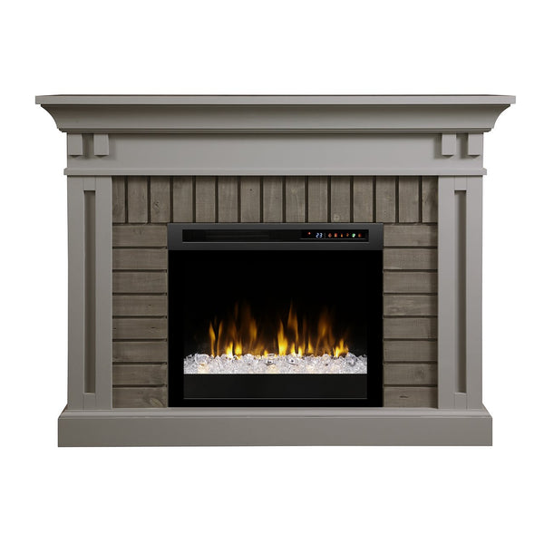 Dimplex Madison 58-Inch Mantel Electric Fireplace - Stone Grey - Acrylic Ice Embers - GDS28G8-1968SG