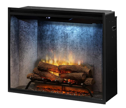 "Dimplex 36"" Revillusion Built-in Electric Firebox with Logs - RBF36PWC"