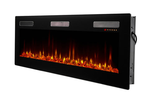 "Dimplex Sierra 72"" Wall-mount Linear Electric Fireplace - SIL72"