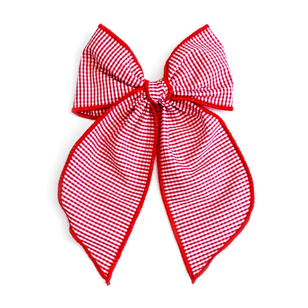 Red and White Mini Check - Oversized Fairytale