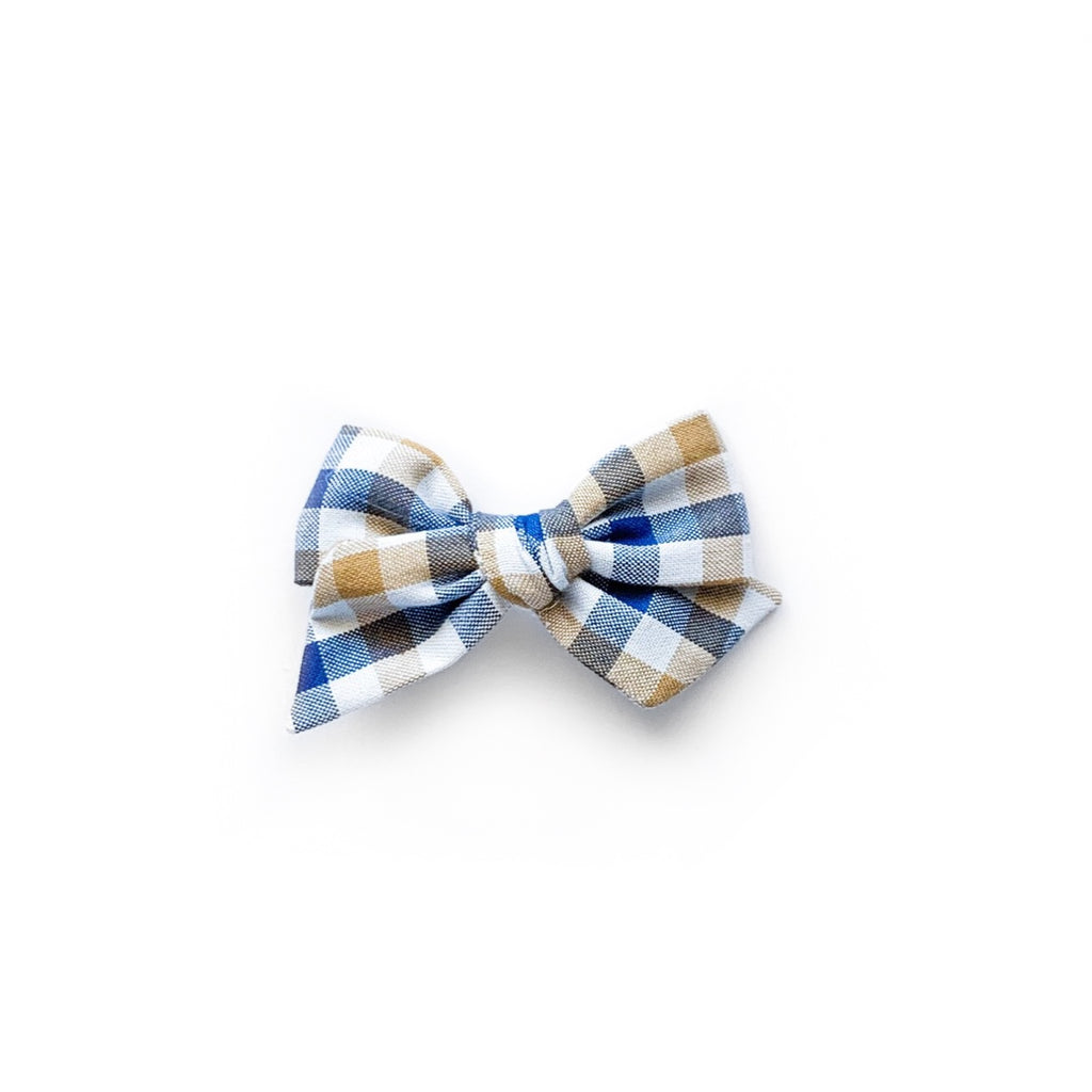 Blue and Tan Plaid - Mini Twirl
