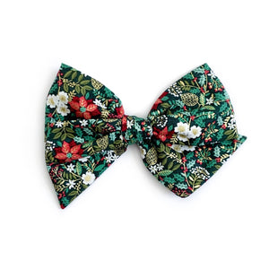 Christmas Floral Holly - Oversized Twirl