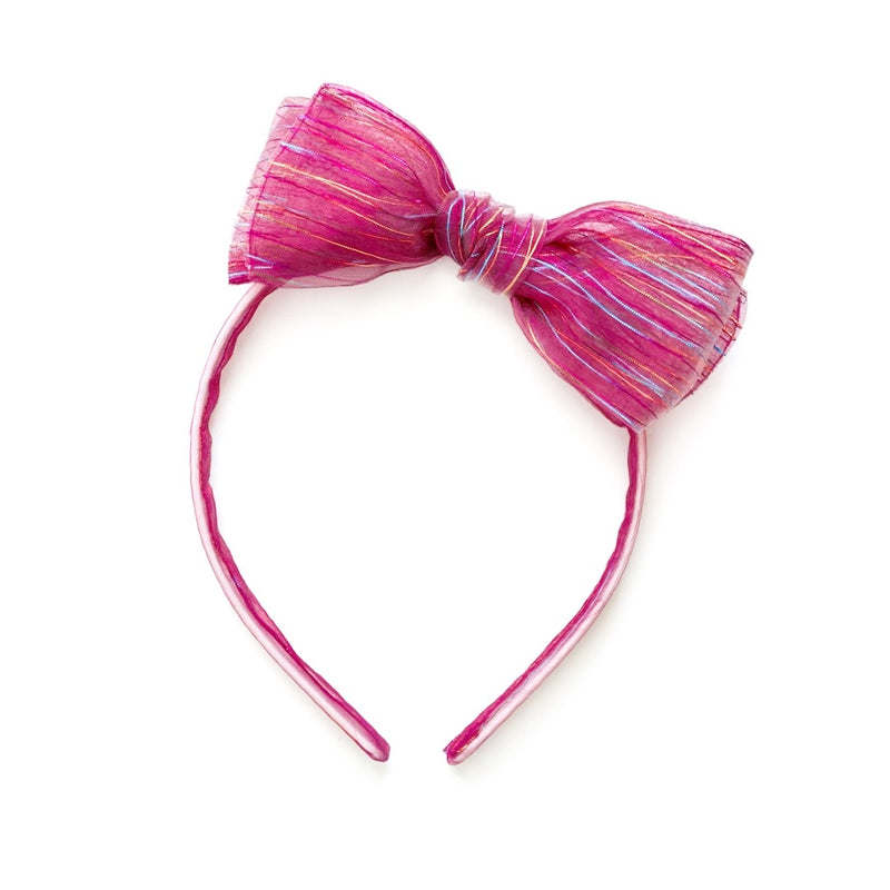 Fuchsia Rainbow Tinsel - Big Girl Headband