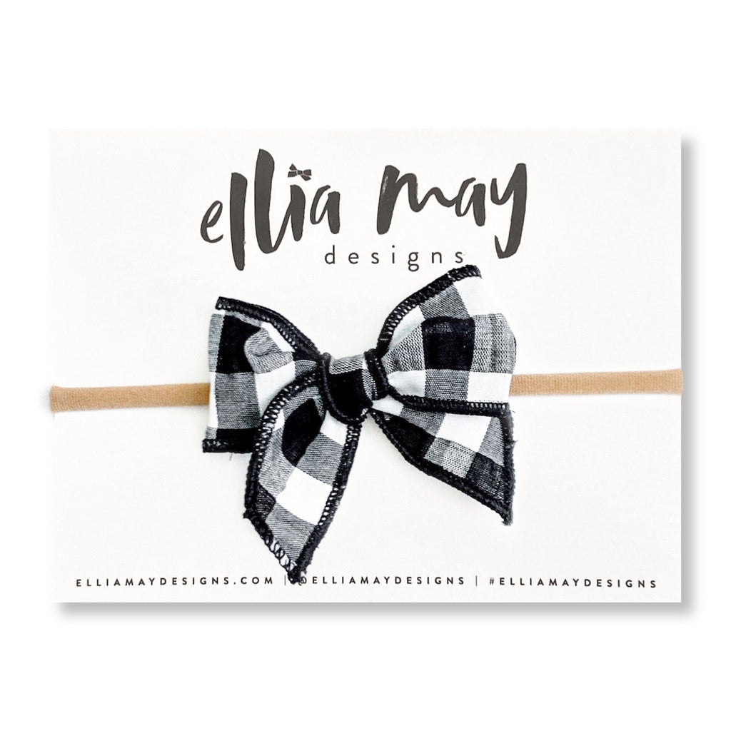 Black & White Gingham Check - Mini Fairytale