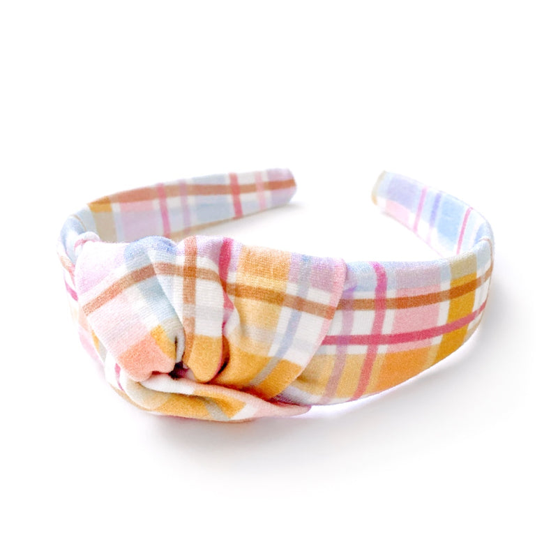 Easter Basket Plaid - Knot Headband