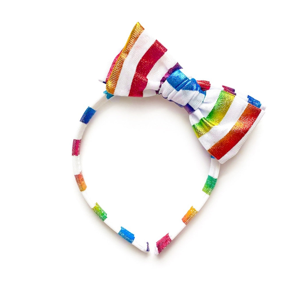 Metallic Rainbow Stripe - Big Girl Headband