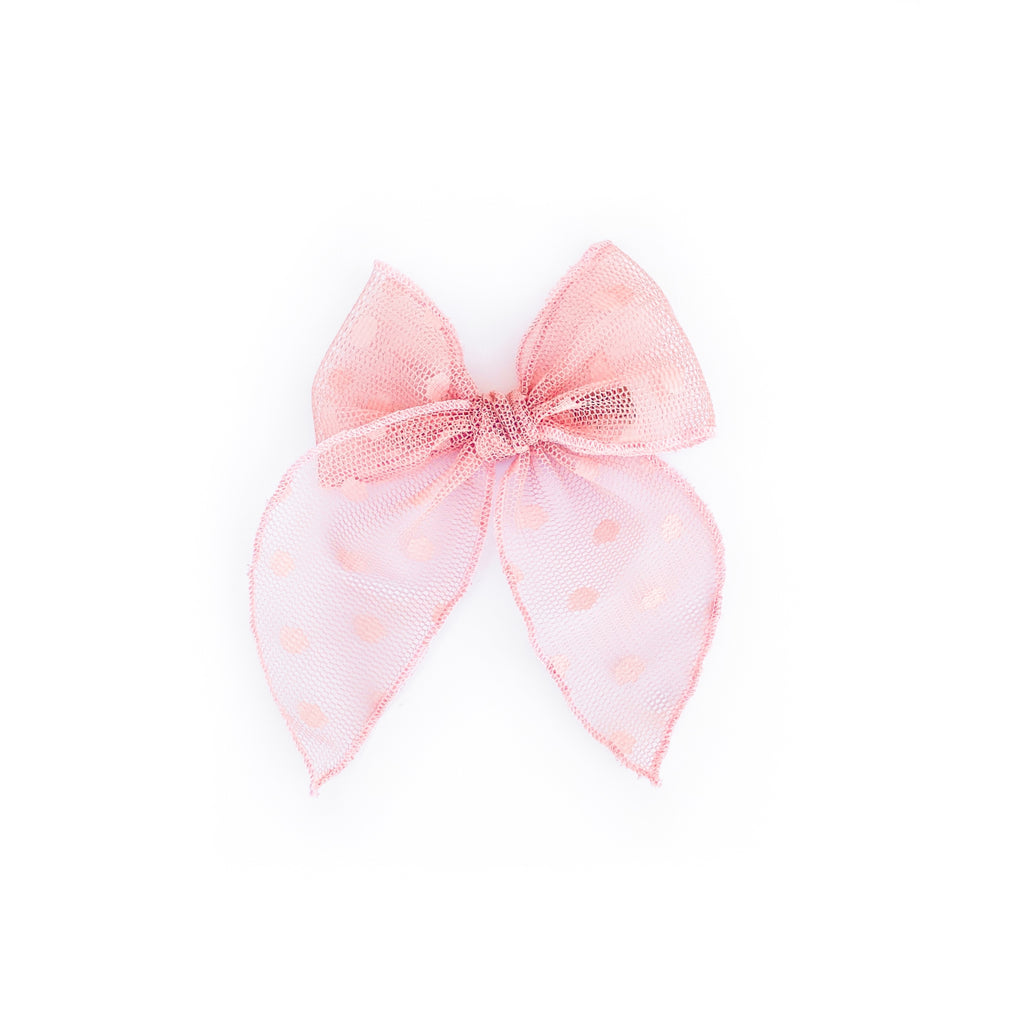 Pink Swiss Dot - Medium Fairytale