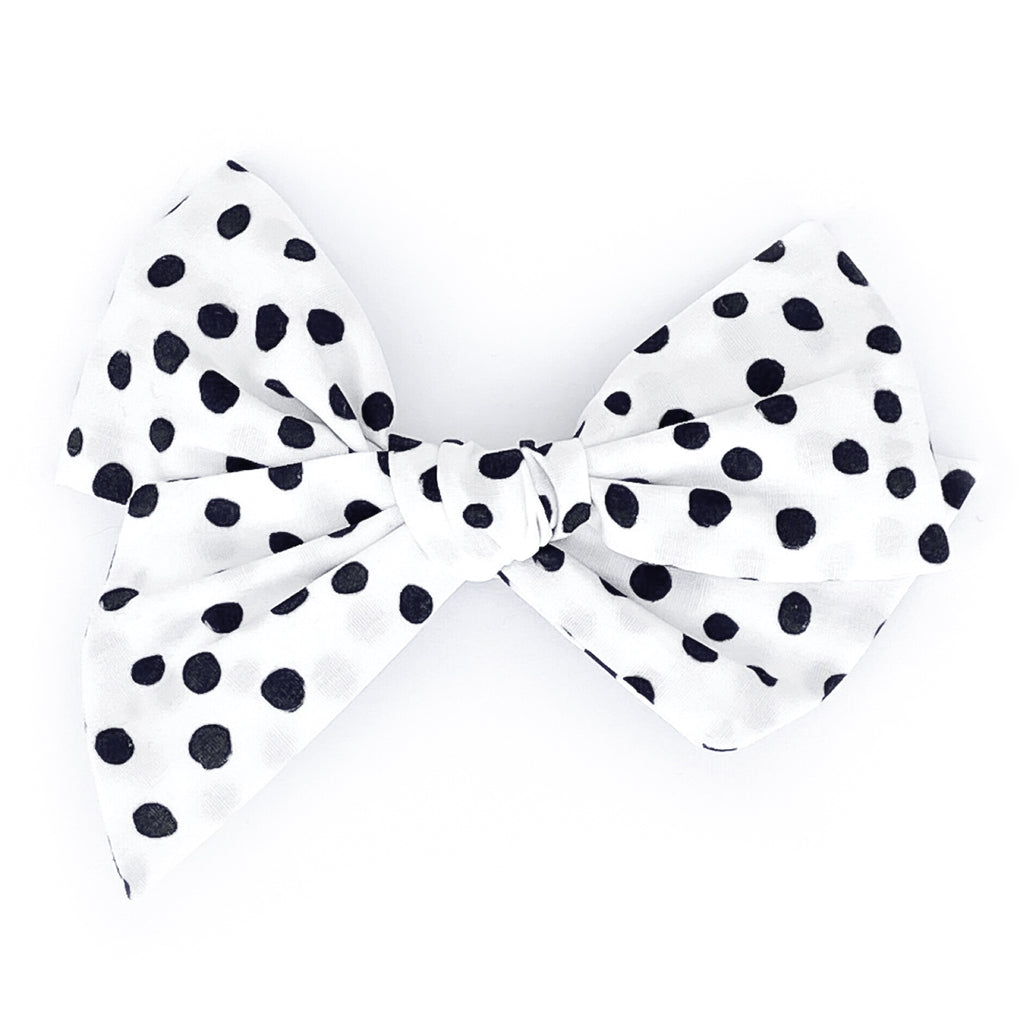 Black and White Polka Dots - Oversized Twirl