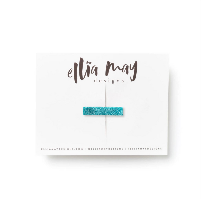 Glitter Teal - Mini Bar Clip