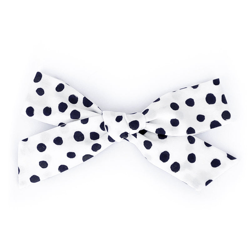 Black and White Polka Dots - Oversized Knot