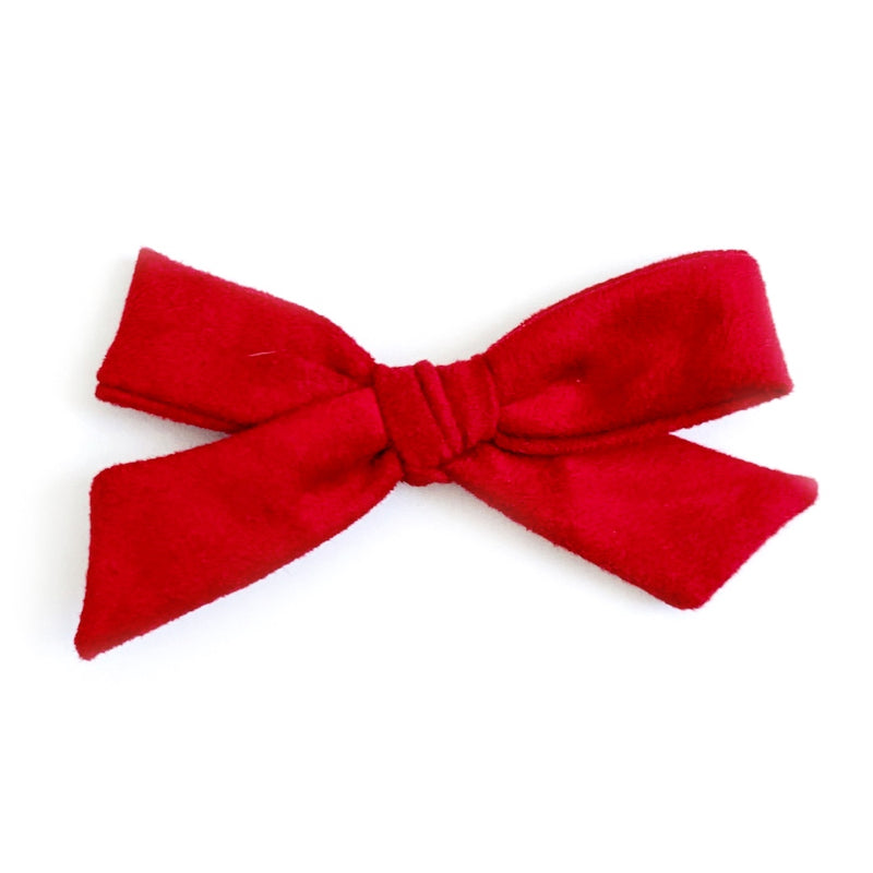 Red Suede - Oversized Knot