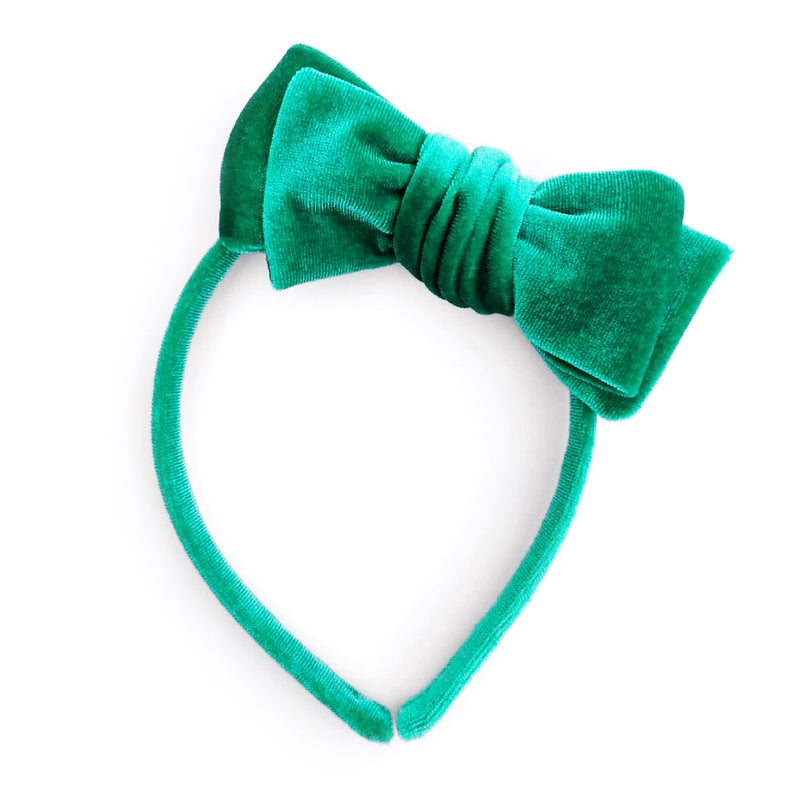 Green Velvet - Big Girl Headband