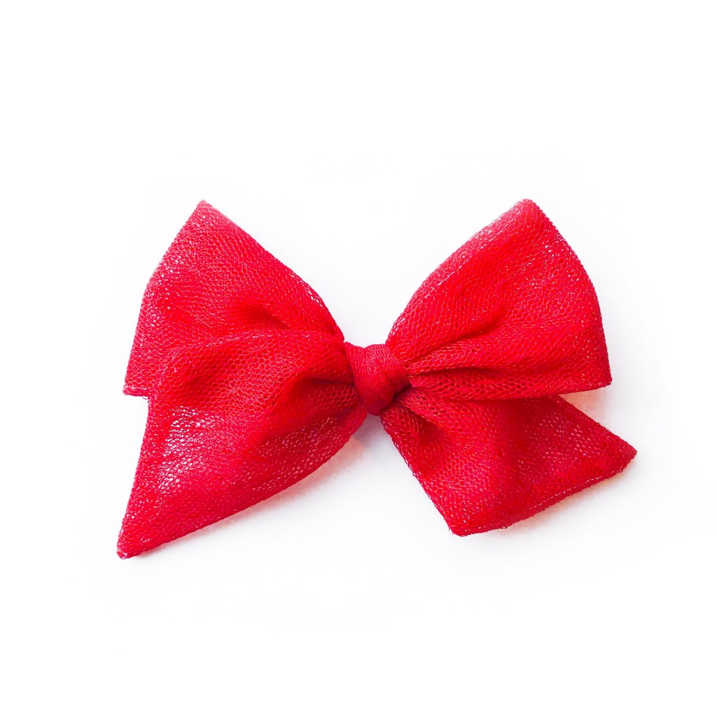 Red Swiss Dot Tulle - Oversized Twirl