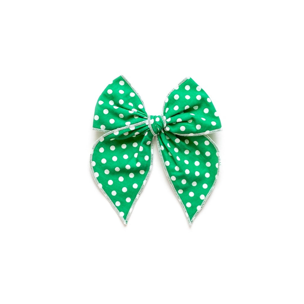 Kelly Green Polka Dot - Medium Fairytale