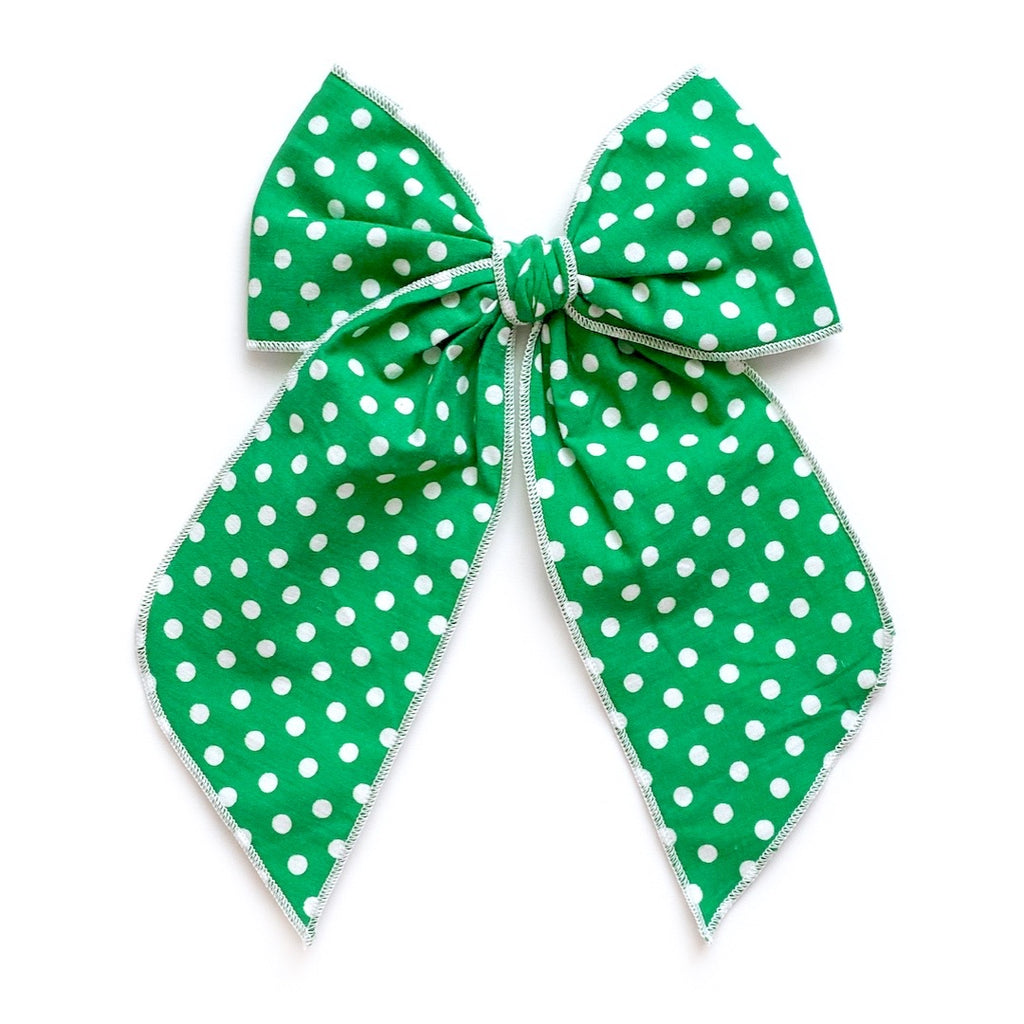 Kelly Green Polka Dot - Oversized Fairytale