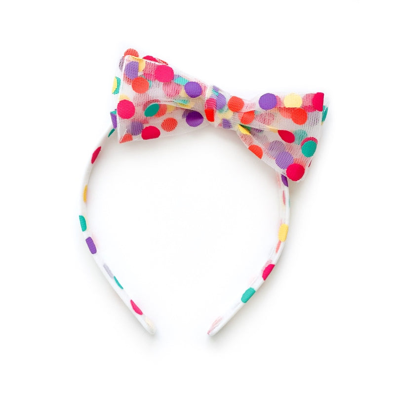 Rainbow Confetti Tulle - Big Girl Headband