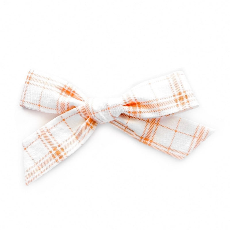 Orange Plaid - Oversized Knot