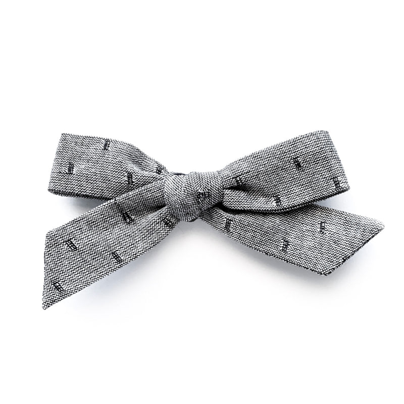 Flocked Grey - Oversized Knot