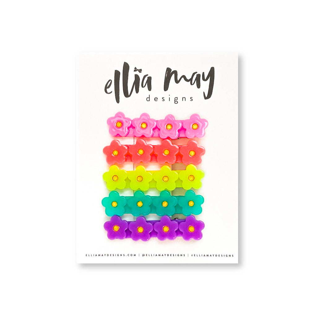 Neon Hibiscus - Bar Clip Bundle 2""