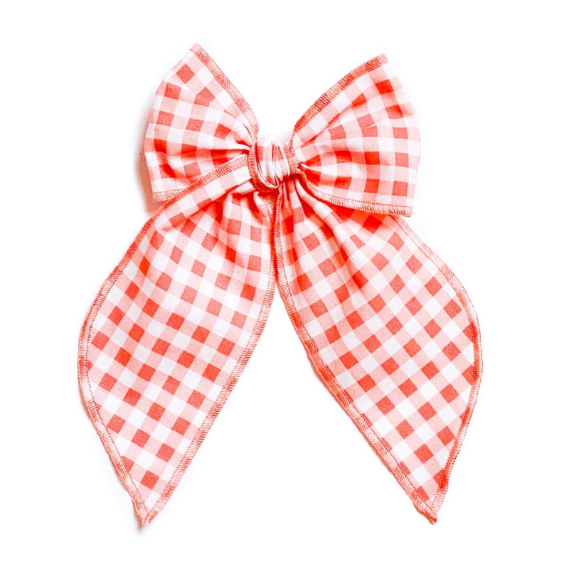 Coral Gingham - Oversized Fairytale
