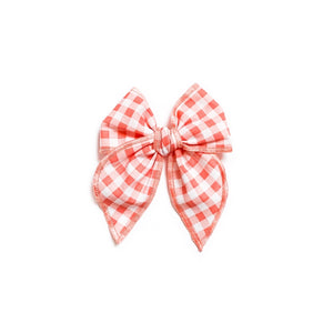 Coral Gingham - Medium Fairytale