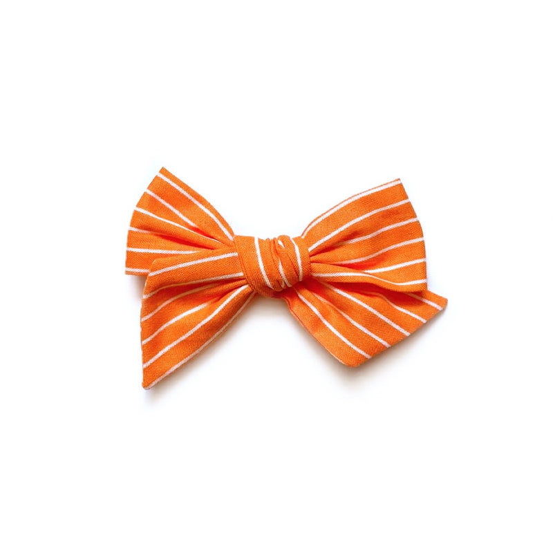 Pumpkin & White Stripe - Mini Twirl