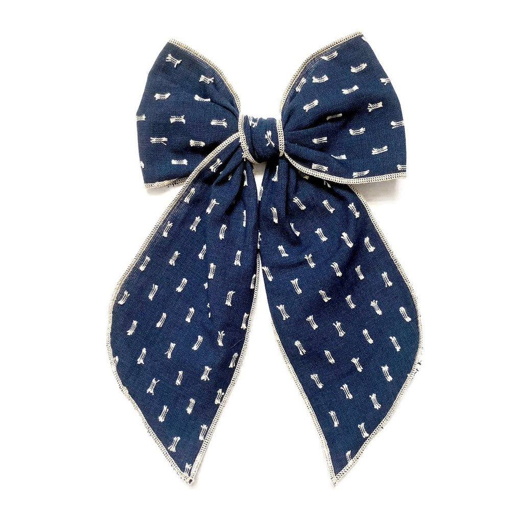 Navy Clip Dot - Oversized Fairytale