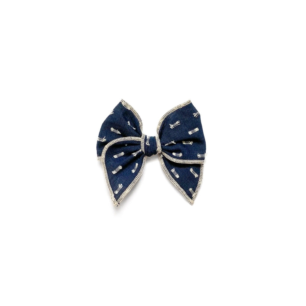 Navy Clip Dot - Mini Fairytale