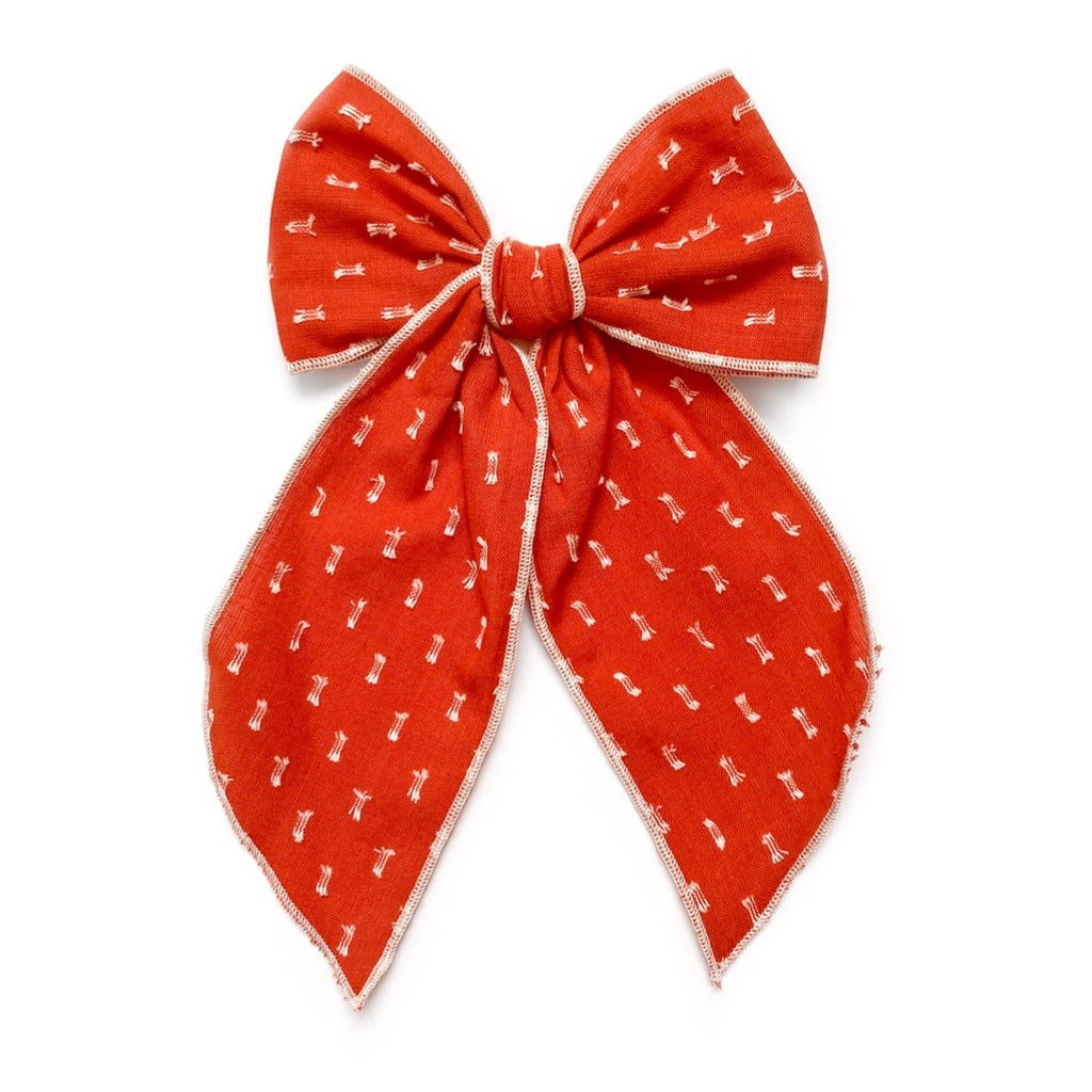 Burnt Orange Clip Dot - Oversized Fairytale