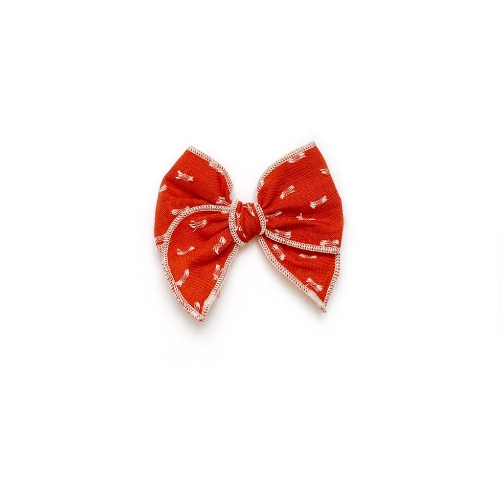 Burnt Orange Clip Dot - Mini Fairytale