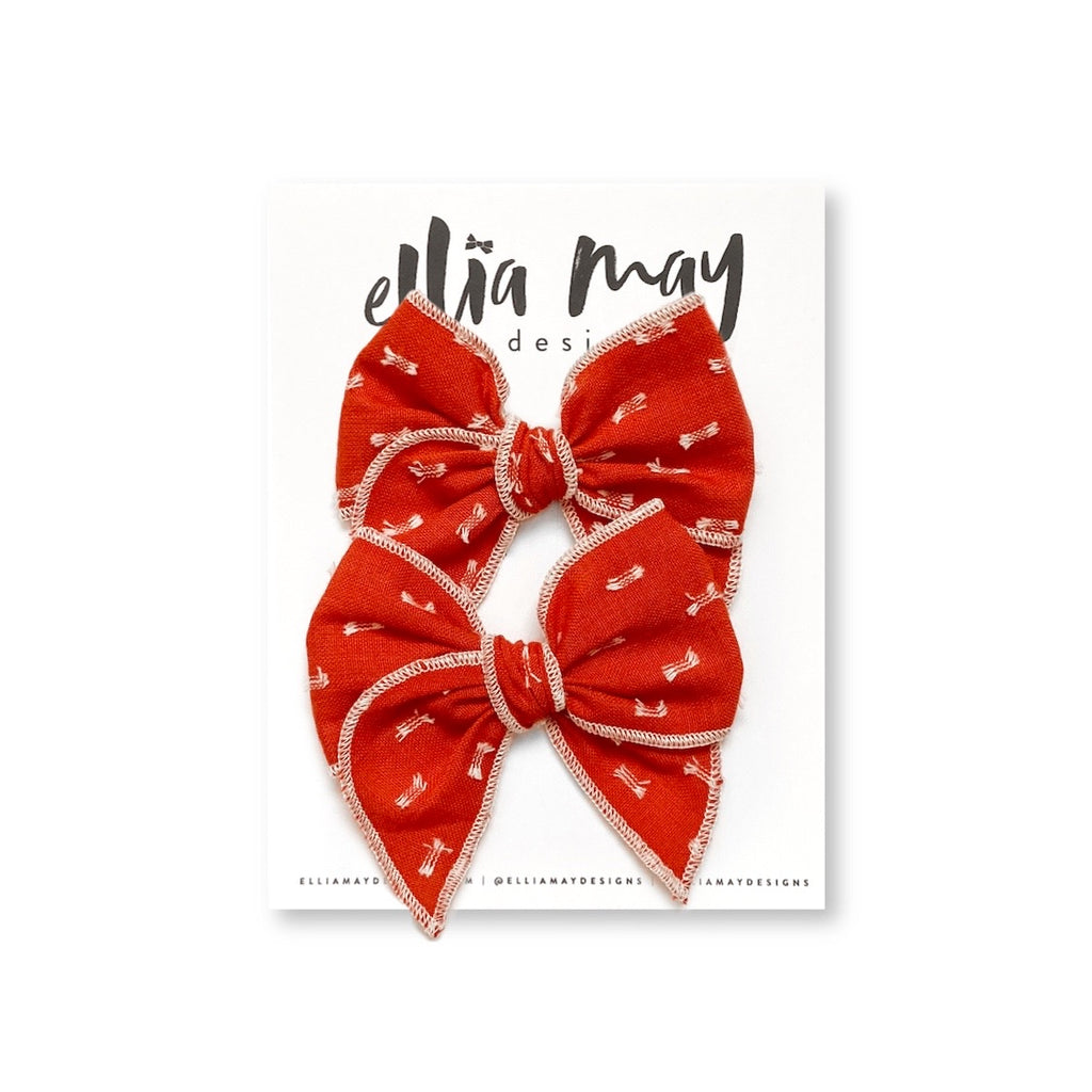 Burnt Orange Clip Dot - Mini Fairytale Piggie Clips