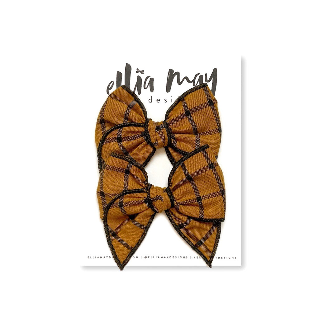 Maple Plaid - Mini Fairytale Piggie Clips
