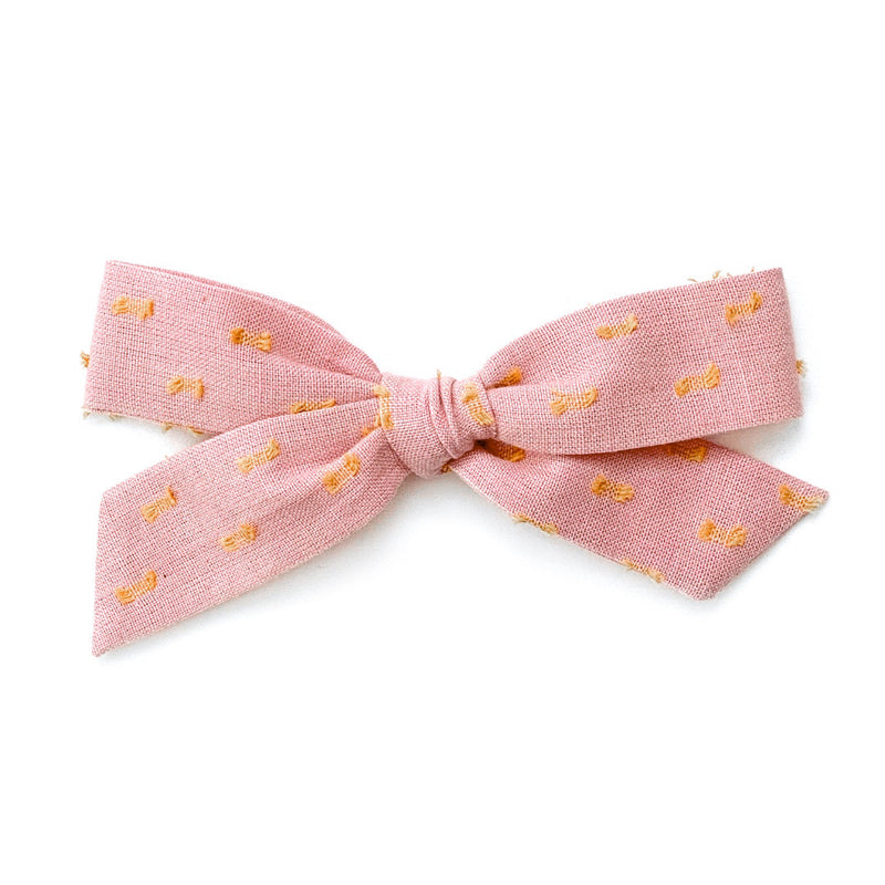 Blush & Mustard Clip Dot - Oversized Knot