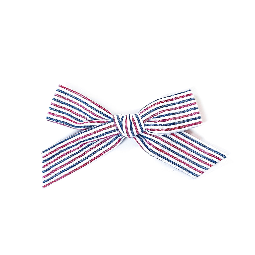 Mini Seersucker Stripe - Oversized Knot