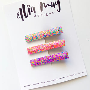 Glitter Party - Bar Clip Set