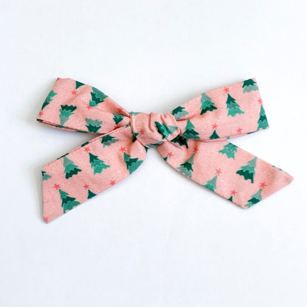 Pink Holiday Trees - Oversized Knot
