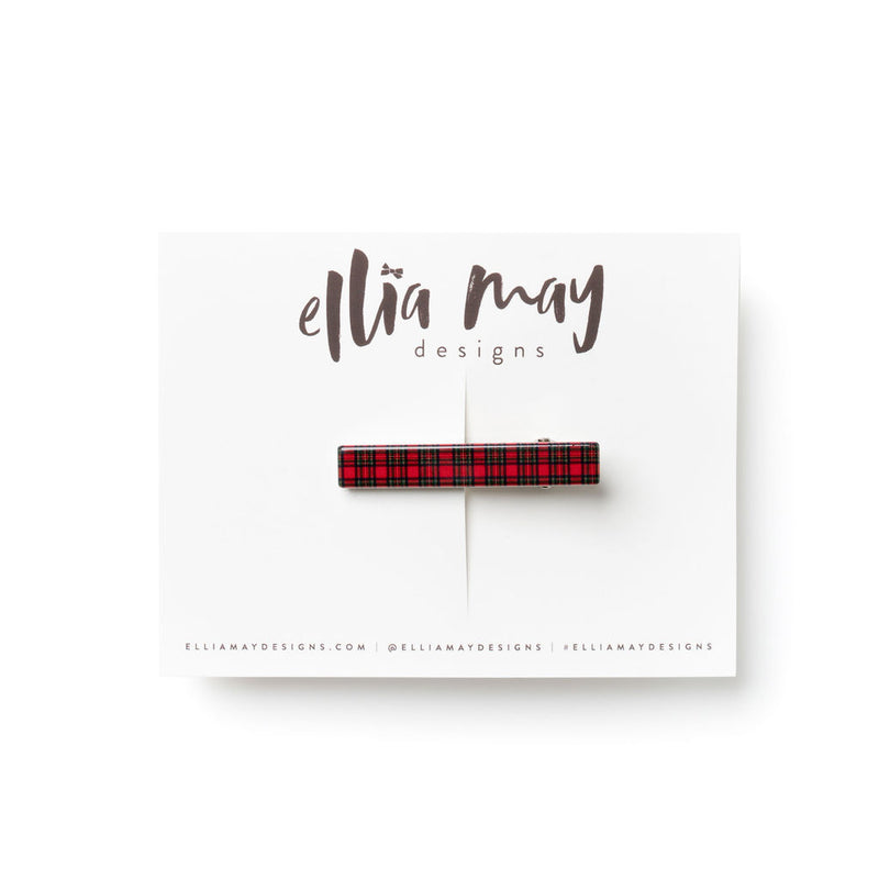 Red Holiday Plaid - Bar Clip