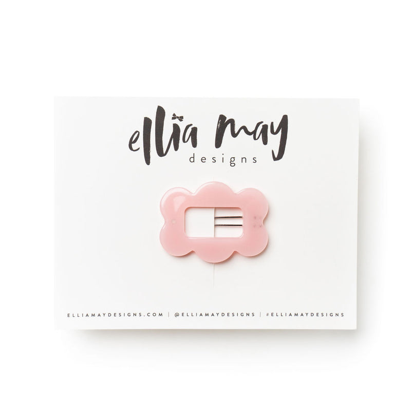 Blush - Scalloped Barrette