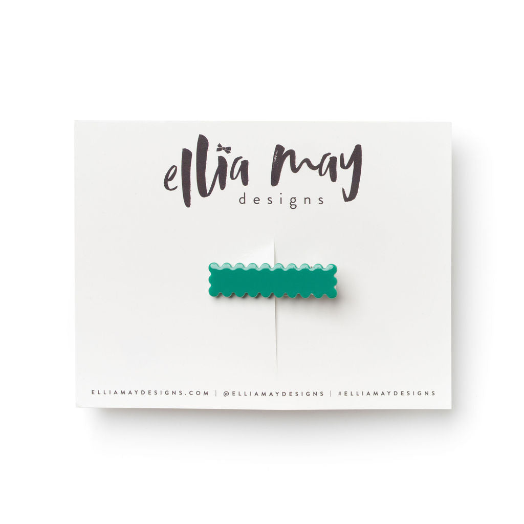Cactus - Mini Scalloped Bar Clip