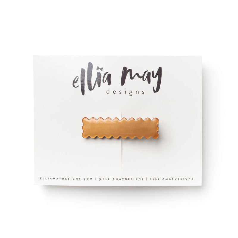 Cinnamon - Scalloped Bar Clip